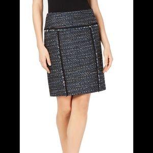 Anne Klein   Women's Tweed Fringe skirt